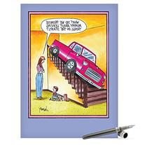 J0317 Jumbo Funny Mother's Day Card: Leaving Things on