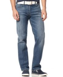 Armani Jeans Men's J21 Straight Fit Light Wash Jeans