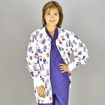 Medline Scrubs Ladies Jacket Shirttail with Knit Cuff - 1 ea
