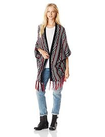 Derek Heart Junior's Jacquard Rib Sleeve Open Front Cardigan