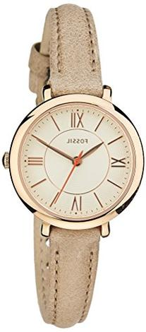 Fossil Women's Jacqueline Brown Tan Leather Strap Watch 26mm