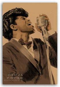 "James Brown by Clifford Faust 18""x12"" Art Print Poster"