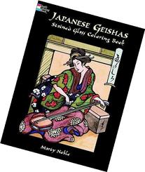 Japanese Geishas Stained Glass Coloring Book