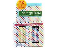 Japanese Washi Tape Colorful Dots 10m X 15mm, Set of 2