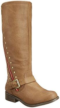 Steve Madden Jbrylee Boot ,Brown/Red,5 M US Big Kid