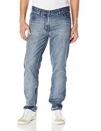 Calvin Klein Jeans Men's Slim Straight Jean, Chalked Indigo