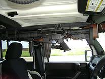 2007-2016 Jeep Wrangler JK JKU Overhead Gun Rack 2 Gun