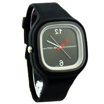Fashion Mens Womens Jelly Silicone Quartz Sport Wrist Watch
