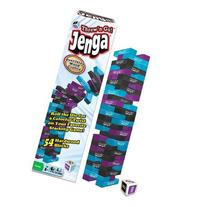 Jenga Throw-N-Go  The Toppling Tower with a Colorful Twist
