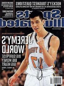 Jeremy Lin Signed Sports Illustrated w/COA Houston Rockets