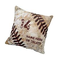 Decors Jersey Number and Name on Vintage Baseball Pillow