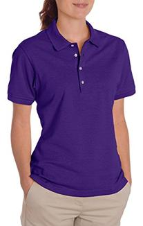 Ladies' Jersey Polo with SpotShield,Large,Deep Purple