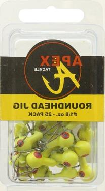 Apex Jig Heads , Chartreuse/Yellow, 1/8-Ounce