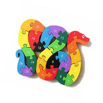 The Jigsaw Puzzles Wooden Toys Animals A-Z & Number Puzzle