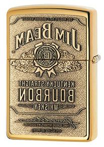 Zippo Jim Beam Bourbon Label Emblem Pocket Lighter, High