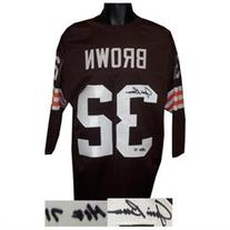 Jim Brown signed Cleveland Browns Prostyle Jersey HOF 3/4