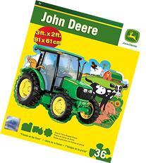 Masterpieces John Deere Shaped Johnny Tractor Floor Puzzle