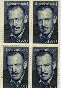 John Steinbeck. 4 /15 cent US postage stamps #1773