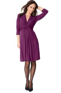 Seraphine Jolene Knot Front Maternity And Nursing Dress - 3/