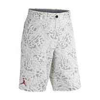 Jordan Men's Nike Fragmented Camo Jumpman Cargo Shorts-White