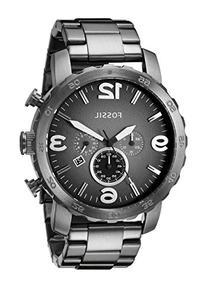 Fossil Men's JR1437 Nate Chronograph Smoke Stainless Steel