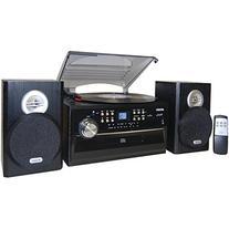 Jensen JTA475B 3-Speed Turntable with CD, AM/FM Stereo Radio