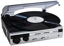 Jensen JTA-230S 3 Speed Stereo Turntable with Built in
