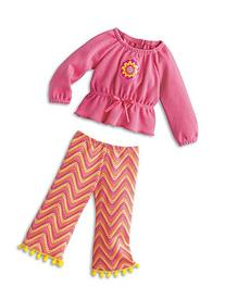 American Girl Julie's Zigzag Pajamas for 18-inch Dolls