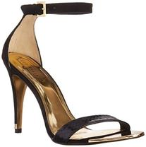 Ted Baker Women's Juliennas Dress Sandal, Black Exotic, 6.5