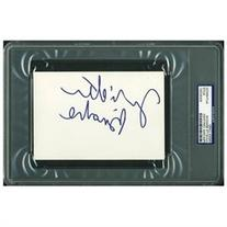 Juliette Binoche Authentic Signed 4X6 Index Card Autographed