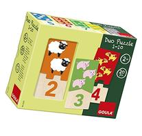 Jumbo Diset Goula Numbers 1-10 Duo Wooden Puzzles by