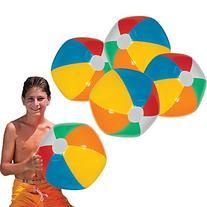 """Toy Cubby Jumbo Inflatable 24"""" Rainbow Beach Ball and"""