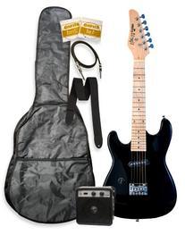 "32"" Black Junior Kids Mini 1/2 Size Electric Starter Guitar"