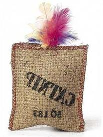 Jute Feather Sack with catnip- 3 Pack