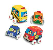 Melissa & Doug K's Kids Pull-Back Vehicle Set - Soft Baby