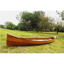 Old Modern Handicrafts K005 16' Real Canoe in Brown