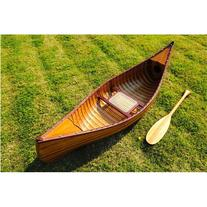 Old Modern Handicrafts K037 6' Canoe in Brown with Ribs