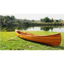 Old Modern Handicrafts K080 12' Canoe in Natural with Ribs Curved Bow