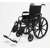 Medline K4 Lightweight Wheelchair with Flip-back Arms and