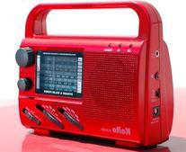 Kaito KA009 4-Way Powered Emergency Radio, Color Red