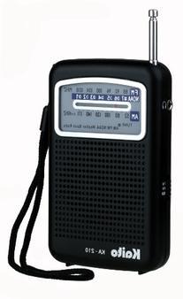 Kaito KA210 Pocket AM/FM NOAA Weather Radio, Black