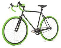 Takara Kabuto Single Speed Road Bike, 700c, Black/Green,