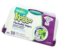 Flushable Wet Wipes and Refillable Container for Kids by