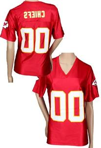 Kansas City Chiefs NFL Womens Fashion Dazzle Jersey, Red