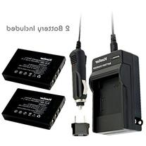 Kastar New Charger + 2 Battery for Kodak KLIC-5001 and
