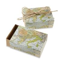"Kate Aspen ""Around the World Map Favor Gift Box, Wedding/"
