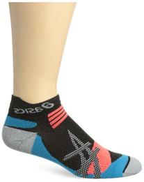 ASICS Kayano Single Tab Sock, Black/Atomic Blue, Large