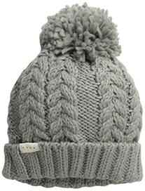 Neff Women's Kaycee Beanie with Pom, Grey, One Size