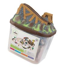 KidKraft - 17805 Bucket Top Construction Train Set by