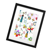 Kids Artwork Frame - 11x14 Inch Black Picture Frame - Made